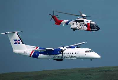 as332l1 super puma & dash-7 search and rescue